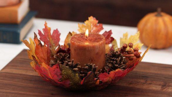 Misa z jesiennych liści – piękna dekoracja