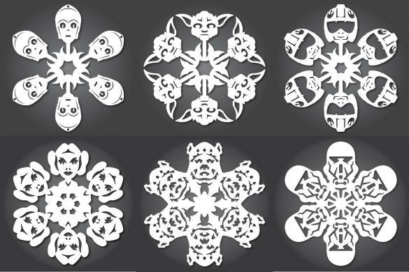 Papierowe śnieżynki – Star Wars