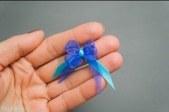 Małe kokardki robione na widelcu