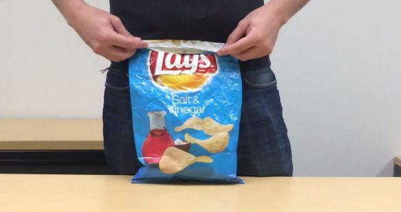 Sposób na zabezpieczenie otwartej paczki chipsów