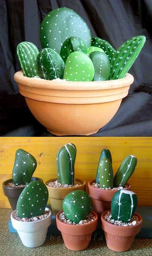 http://petitandsmall.com/crafts-stones-4-ideas-paint-decorate/